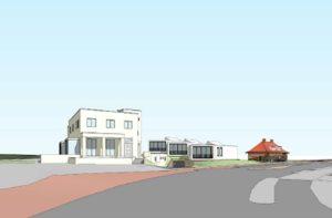 Het ontwerp van Peter van Egmond voor het nieuwe Villa Allegonda te Katwijk.